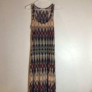 Aztec Long Tank Dress